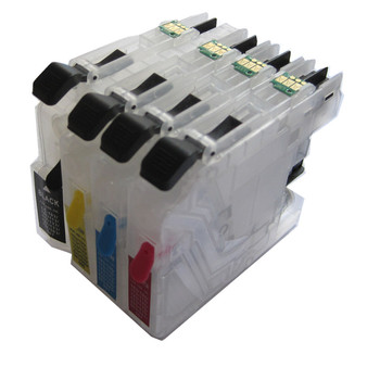4 COLOR LC131 BK C M Y refillable Ink cartridge for Brother DCP-J552DW DCP-J752DW DCP-J152W DCP-J172W permanent chip