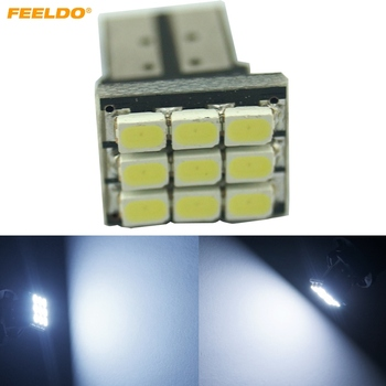 FEELDO 100 Adet Araba DC12V T10/194/168 Kama 1206 SMD 9LED Beyaz Işık Araba LED Lambası Ampul # AM4638