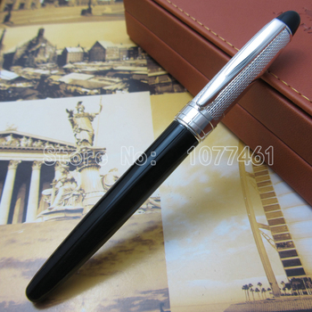 Baoer Elegant fashion black and silver cap fountain pen BE547