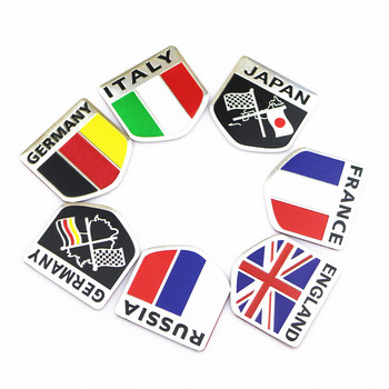 3D Metal Alümİnyum araç Amblem Badge Decal Sticker Peugeot 107 için 207 307 407 308 408 Citroen C1 C2 C3 C4 C5 C6 C8 DS3 DS4 DS5